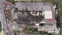 HADıMKÖY - Hadımköy'de Fabrika Yangınında Son Durum Havadan Görüntülendi