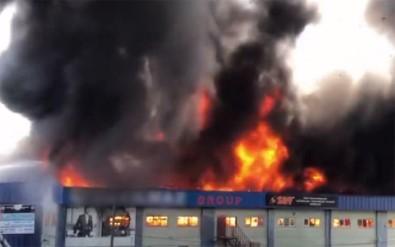 İstanbul Hadımköy'de fabrika yangını!