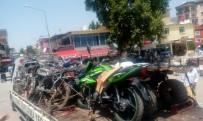 Sason'da 23 Motosiklete El Konuldu