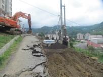 MUSTAFA YıLDıRıM - Trabzon Büyükşehir Belediyesi Fore Kazık Uygulamasıyla Heyelan Olaylarının Önüne Geçiyor
