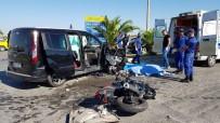 ÇARPMA ANI - Antalya'da Feci Kaza Açıklaması 1 Ölü, 2 Yaralı