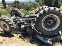 Gördes'te Traktör Kazası Açıklaması 1 Yaralı
