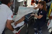 MEHMET AKİF ERSOY - Sokak Ortasında Satırla Yaralandı