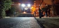 YOĞUN MESAİ - Hakkari'de Asfalt Çalışması Gece De Yapılıyor