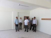 OKUL BİNASI - Kaymakam Aksoy Okul İnşaatını Denetledi