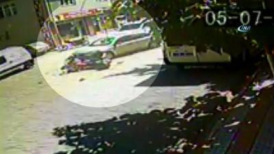 Otomobil Ve Motosiklet Kafa Kafaya Çarpıştı
