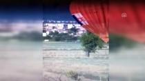 SICAK HAVA BALONU - Sıcak Hava Balonu, Hava Muhalefeti Nedeniyle Sürüklendi