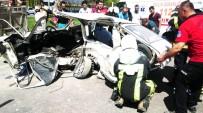 Denizli'de Kavşakta Can Pazarı Açıklaması 9 Yaralı