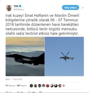 TSK: 8 terörist etkisiz hale getirildi