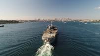 ASKERİ HELİKOPTER - İstanbul Boğazından Geçen ABD Savaş Gemisi Havadan Görüntülendi