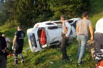 Trabzon'da Otomobil Şarampole Yuvarlandı Açıklaması 1 Ölü, 3 Yaralı