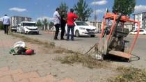 KAZIM KARABEKİR - Otomobilin Çarptığı Asfalt İşçisi Ağır Yaralandı