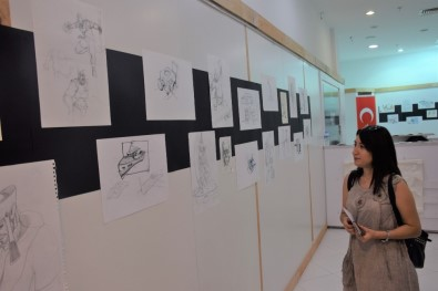Sanat Ve Tasarım Galerisi'nde 'Eskiz' Sergisi Açıldı