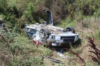 Tekirdağ'da Virajı Alamayan Otomobil Tarlaya Uçtu Açıklaması 2 Yaralı