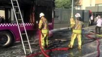 KıSıKLı - Üsküdar'da Yolcu Otobüsü Yandı