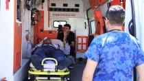 HULUSİ EFENDİ - Ambulans Helikopter Yaralı İşçi İçin Havalandı