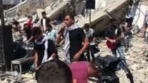 HAVA SALDIRISI - Filistinlilerden İsrail Güçlerine Konserli Tepki