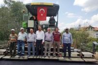 HASANLAR - Hisarcık'ta İki Köy Yoluna Bitümlü Sıcak Karışım Asfalt