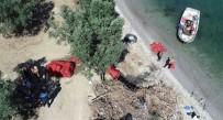 Bursa'da Kaçak Midyeciler Drone İle Yakalandı