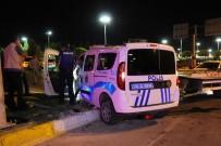 POLİS ARACI - Karaman'da Cipin Polis Aracına Çarpması Sonucu 2'Si Polis 3 Kişi Yaralandı