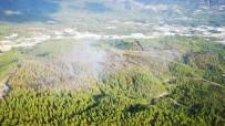 İTFAİYE ARACI - Kaş'taki Orman Yangını Kontrol Altına Alındı