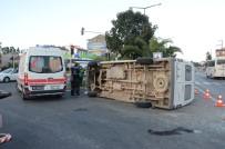 KAYABAŞı - Mevsimlik Tarım İşçilerini Taşıyan Minibüs Devrildi Açıklaması 1'İ Çocuk 22 Yaralı