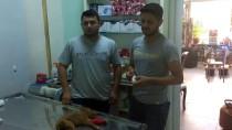 SU KAYBI - Ölmek Üzereyken Bulduğu Yavru Köpeğe Sahip Çıktı