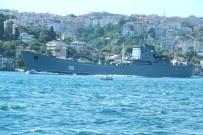 SAVAŞ GEMİSİ - Rus Savaş Gemisi 'Orsk' İstanbul Boğazı'ndan Geçti