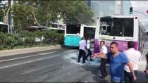 HALK OTOBÜSÜ - Seyir Halindeki Özel Halk Otobüsünde Yangın