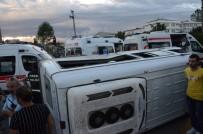 KAYABAŞı - Tarım İşçilerini Taşıyan Minibüs Devrildi Açıklaması 22 Yaralı