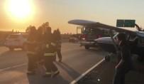 KALIFORNIYA - ABD'de Havada Arızalanan Uçak Otoyola İniş Yaptı