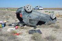 Karaman'da Otomobil Takla Attı Açıklaması 7 Yaralı