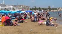 KıZKALESI - Mersin'de Sıcak Hava Sahilleri Doldurdu
