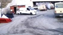 İNŞAAT FİRMASI - (Özel) Önce Araçların Tekerlerini Patlattılar Sonra Depoyu Soydular