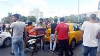GÜVEN TİMLERİ - (ÖZEL) Taksim Meydanı'nda Taksicilerle Kuryenin Kavgası Kamerada