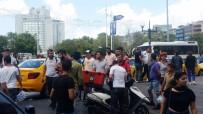GÜVEN TİMLERİ - Taksicilerle Kuryenin Kavgası Kamerada