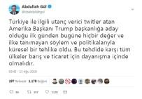 AMERİKA BAŞKANI - Abdullah Gül'den ABD'ye Eleştiri