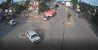 HAMDIBEY - Otomobil Karpuz Tezgahına Daldı