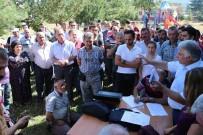 TAŞ OCAĞI - Köylerine Taş Ocağı İstemeyen Köylüler, ÇED Toplantısında Tepkilerini Gösterdi