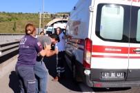 KÖRFEZ - TEM İzmit Tünellerinde Otomobil Yandı, İnsanlar Tünelde Mahsur Kaldı