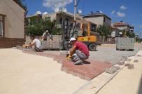 YEŞILTEPE - Ergene'de Parke Taşı Döşeme Çalışmaları