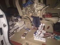 İki Otomobilden 9 Bin 400 Paket Kaçak Sigara Çıktı