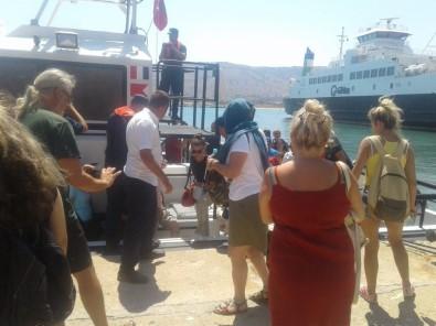 Feribottan yolcular tahliye edildi