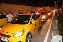 TAKSİ DURAKLARI - İstanbul'da Taksicilerden ABD Başkonsolosluğu Önünde Protesto