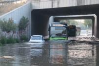 Kanal Taştı, Alt Geçit Sular Altında Kaldı
