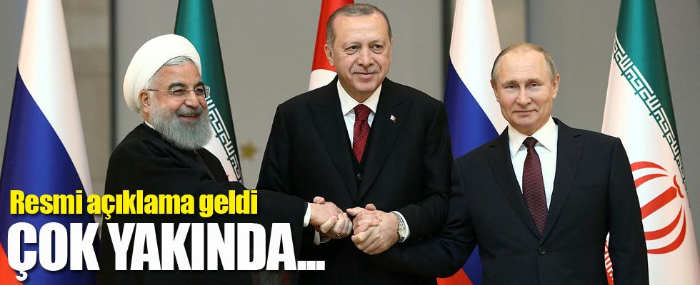 Kremlin'den Erdoğan-Putin-Ruhani zirvesi açıklaması