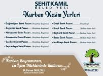 SEYRANTEPE - Şehitkamil'de Kurban Satış Yerleri Ve Kurban Kesim Yerleri Belirlendi.