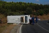 Tarım İşçilerini Taşıyan Minibüs Devrildi Açıklaması 12 Yaralı
