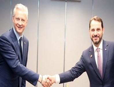 Hazine ve Maliye Bakanı Albayrak, Fransa Fİnans Bakanı ile görüştü