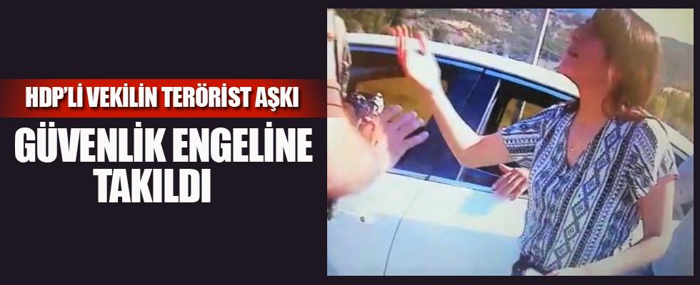 Terörist cenazesine katılmak isteyen HDP'li vekil güvenlik engeline takıldı